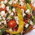 4015 Gartensalat Hirtenkäse: Mischsalat, Paprika, Peperoni, Cherrytomaten, Hirtenkäse, Petersilie