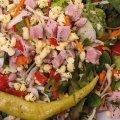 4017 Gartensalat Schinken Käse: Mischsalat, Paprika, Peperoni, Cherrytomaten,  Schinken, Gouda, Petersilie