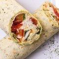 2035 Tomate Mozzarella: Tortilla, Tomate, Mozzarella, Pesto, Mischsalat